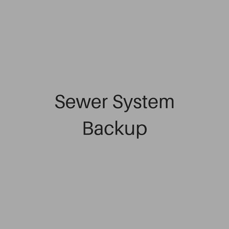 sewer system backup