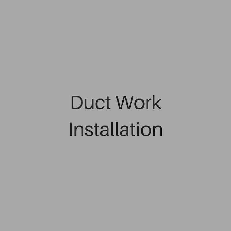duct work installation