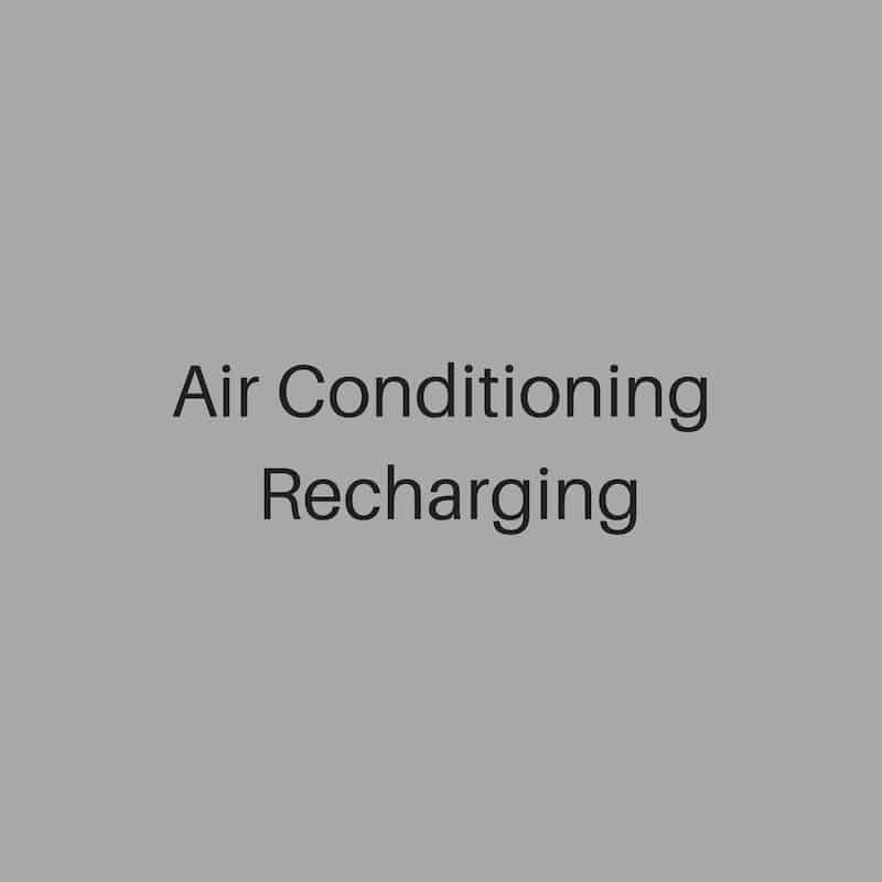 air conditioning recharging