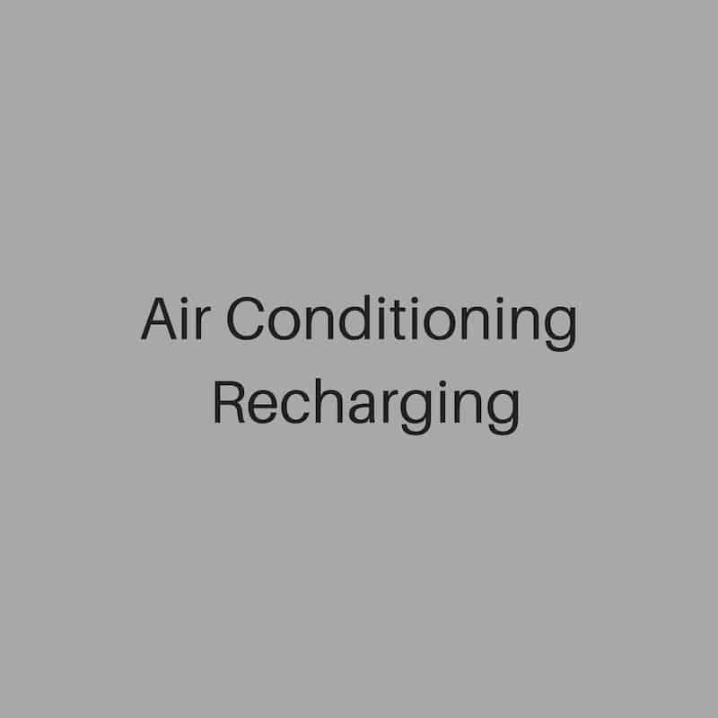 air conditioning recharging