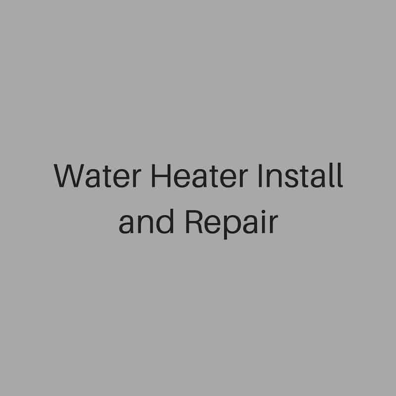 water heater install and repair
