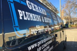 Gerard plumbing and heating back side of van1